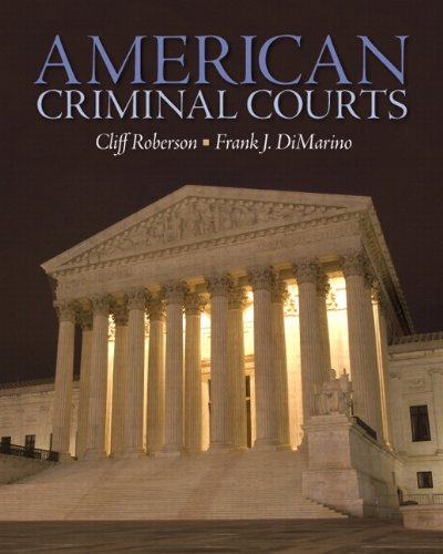 American Criminal Courts   2012 (Revised) edition cover