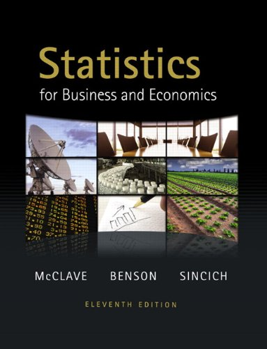 Statistics for Business and Economics  11th 2011 edition cover