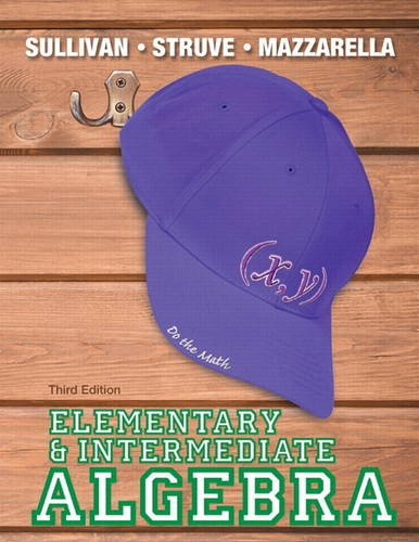 Elementary and Intermediate Algebra  3rd 2014 edition cover
