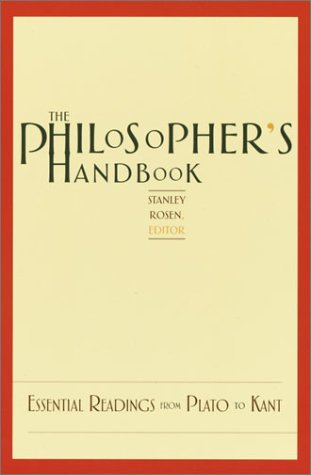 Philosopher's Handbook Essential Readings from Plato to Kant  2003 edition cover