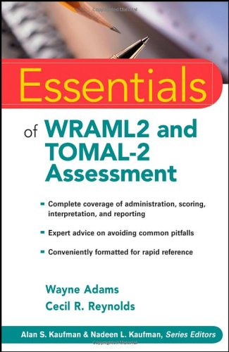 Essentials of WRAML2 and TOMAL-2 Assessment   2009 edition cover