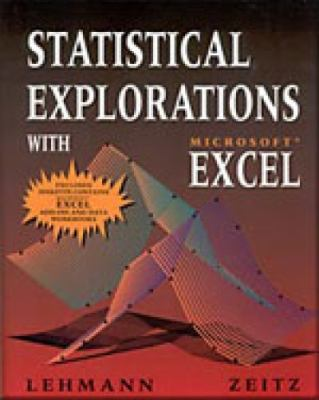Statistical Explorations with Microsoft Excel  1998 (Lab Manual) 9780534516116 Front Cover