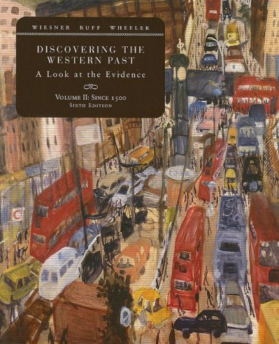 Discovering the Western Past A Look at the Evidence, since 1500 6th 2008 edition cover