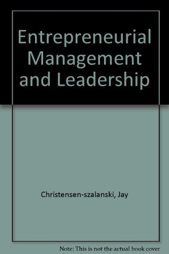 Entrepreneurial Management and Leadership  Revised  9780757577116 Front Cover