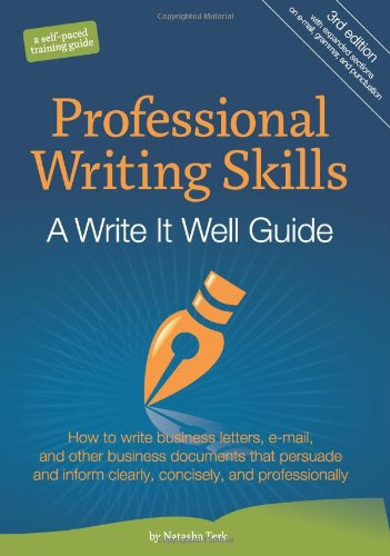 Professional Writing Skills A Write It Well Guide 3rd 2010 edition cover