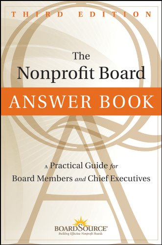 Nonprofit Board Answer Book A Practical Guide for Board Members and Chief Executives 3rd 2012 edition cover