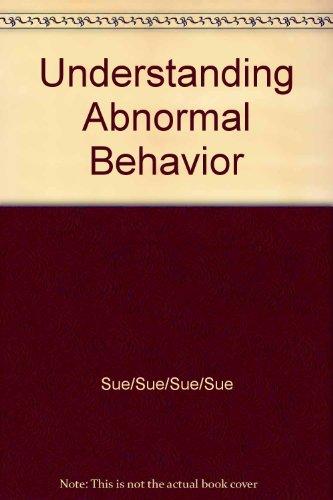 UNDERSTANDING ABNORMAL BEHAVIO N/A 9781285121116 Front Cover