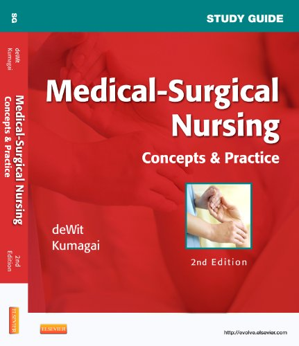 Study Guide for Medical-Surgical Nursing Concepts and Practice 2nd edition cover