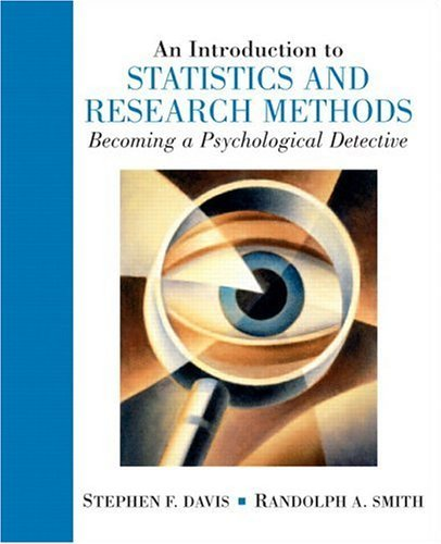 Introduction to Statistics and Research Methods An Becoming a Psychological Detective  2005 edition cover