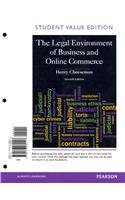 Legal Environment of Business and Online Commerce, the, Student Value Edition  7th 2013 edition cover