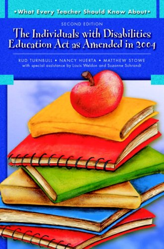 Individuals with Disabilities Education Act as Amended in 2004  2nd 2009 edition cover