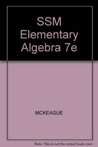 Ssm Elementary Algebra 7th 2004 9780534423117 Front Cover