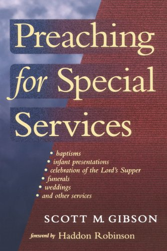 Preaching for Special Services   2001 edition cover