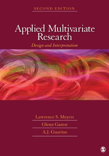 Applied Multivariate Research Design and Interpretation 2nd 2013 edition cover