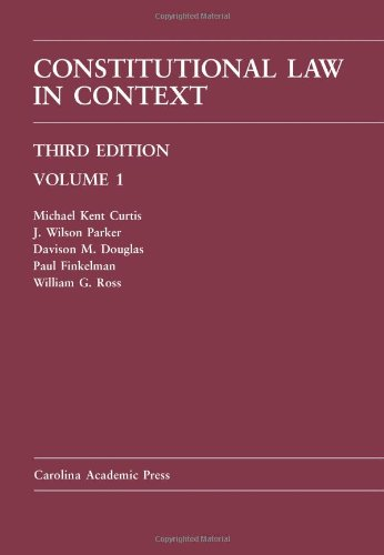 Constitutional Law in Context Volume 1 3rd 2011 edition cover