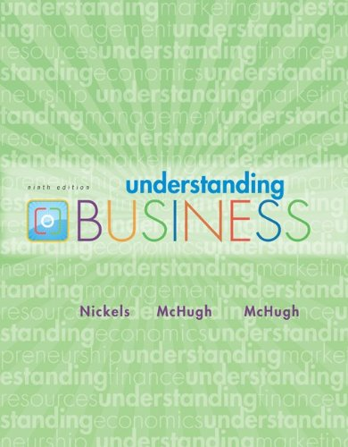 Understanding Business with Connect Plus  9th 2010 edition cover