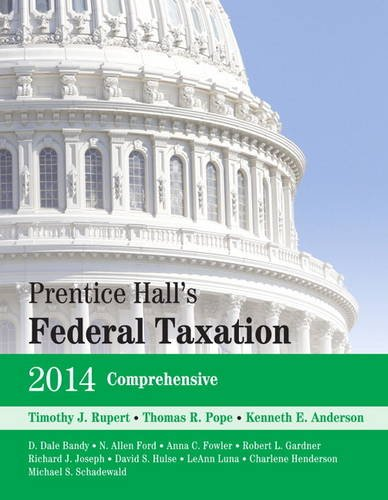 Prentice Hall's Federal Taxation 2014 Comprehensive  27th 2014 edition cover
