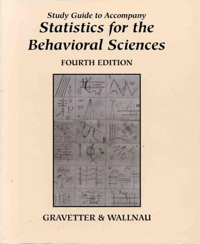 Essentials of Statistics for the Behavioral Sciences  4th 1996 (Student Manual, Study Guide, etc.) 9780314068118 Front Cover