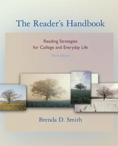 Reader's Handbook Reading Strategies for College and Everyday Life 3rd 2007 (Revised) edition cover