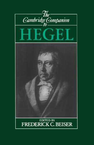 Cambridge Companion to Hegel   1993 edition cover