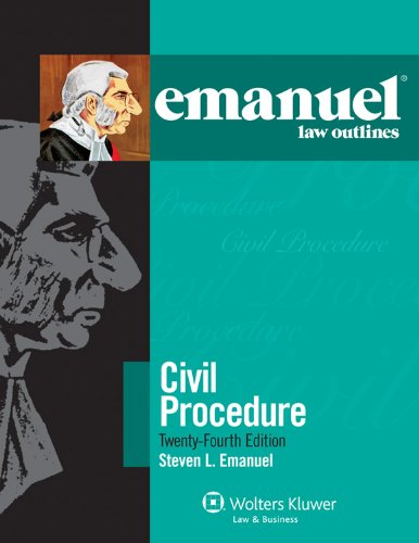 Civil Procedure  24th 2011 (Student Manual, Study Guide, etc.) edition cover