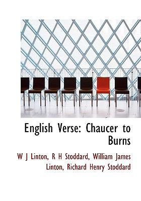 English Verse : Chaucer to Burns N/A 9781113930118 Front Cover