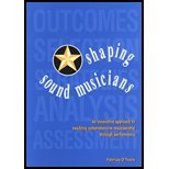 Shaping Sound Musicians : An Innovative Approach to Teaching Comprehensive Musicianship Through Performance 1st 2003 edition cover