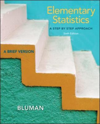Elementary Statistics A Brief Version 6th 2013 edition cover
