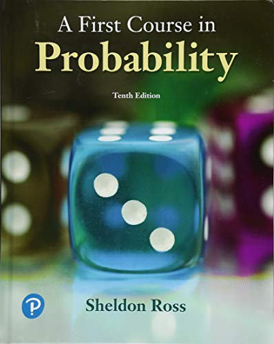 First Course in Probability  10th 2019 9780134753119 Front Cover