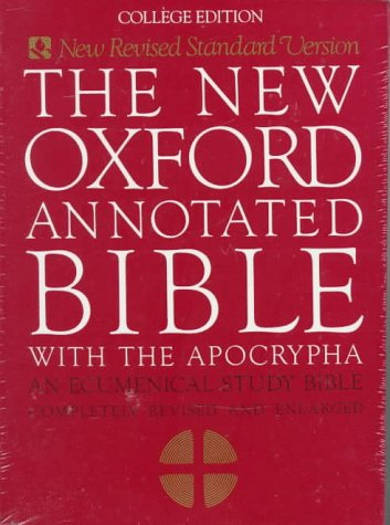New Oxford Annotated Bible with the Apocrypha  N/A edition cover