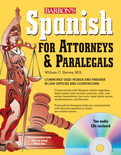 Spanish for Attorneys and Paralegals with Audio CDs   2009 edition cover