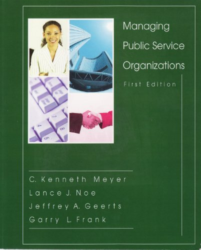 Managing Public Service Organizations  N/A edition cover