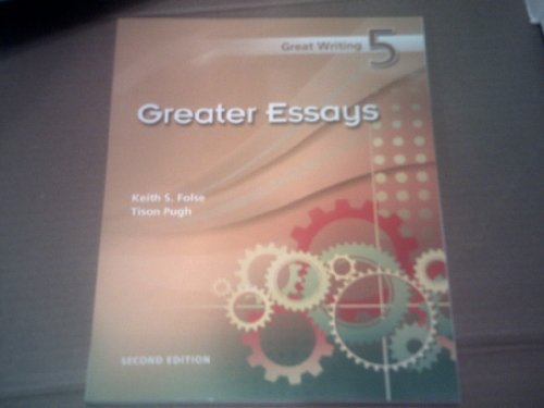 Greater Essays  2nd 2009 edition cover