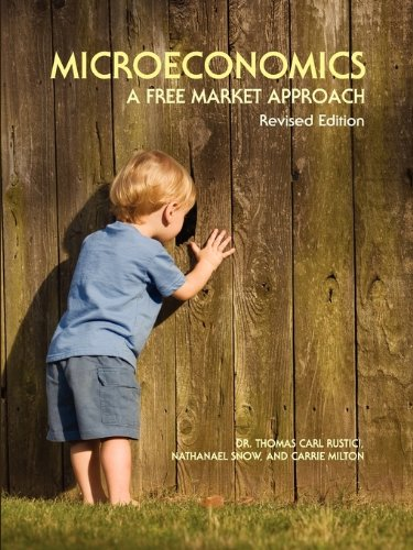 Microeconomics A Free Market Approach  2009 edition cover