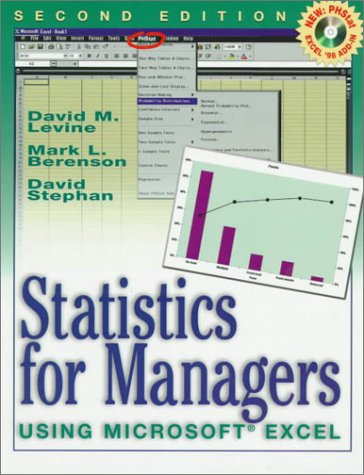 Statistics for Managers Using Microsoft Excel  2nd 1999 edition cover