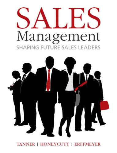 Sales Management   2009 edition cover