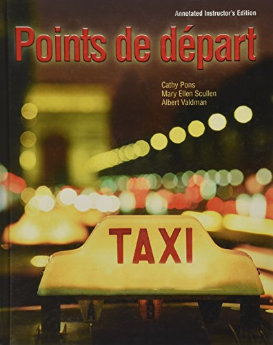 POINTS DE DEPART >ANNOT.INSTRS.ED< 1st edition cover