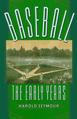 Baseball The Early Years N/A edition cover