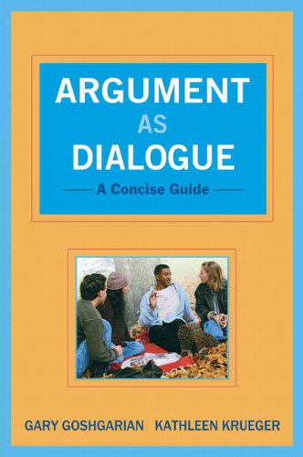 Argument as Dialogue A Concise Guide  2011 edition cover