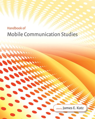 Handbook of Mobile Communication Studies   2008 edition cover