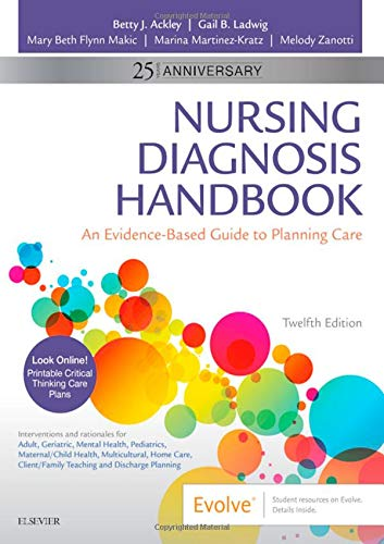 Nursing Diagnosis Handbook An Evidence-Based Guide to Planning Care 12th 2020 9780323551120 Front Cover
