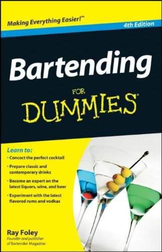 Bartending for Dummies  4th 2010 edition cover
