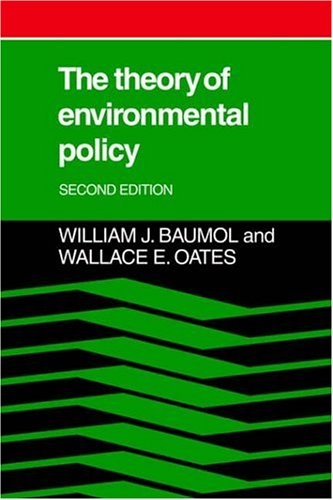 Theory of Environmental Policy  2nd 1988 (Revised) 9780521311120 Front Cover