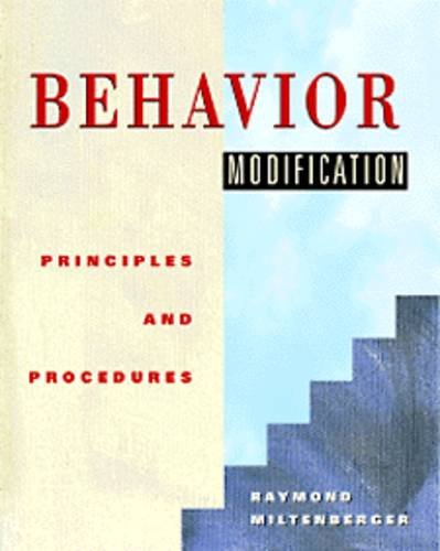 Behavior Modification Principles and Procedures 1st 1997 edition cover