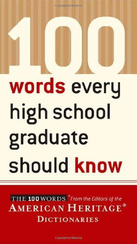 100 Words Every High School Graduate Should Know   2003 edition cover