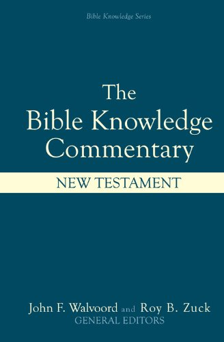 Bible Knowledge Commentary New Testament  2001 edition cover