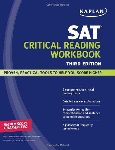 Kaplan SAT Critical Reading Workbook  3rd (Workbook) edition cover