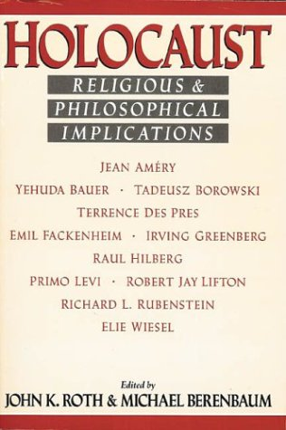 Holocaust Religious and Philosophical Implications  1998 edition cover