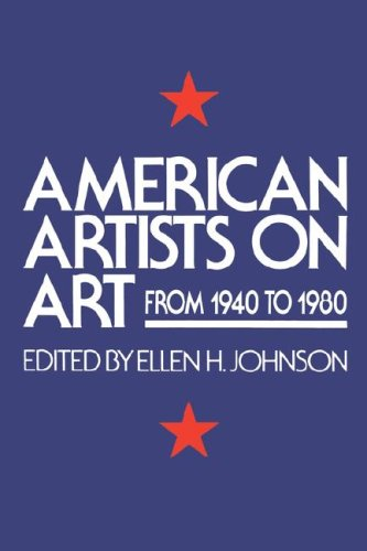 American Artists on Art From 1940 to 1980  1982 (Revised) edition cover