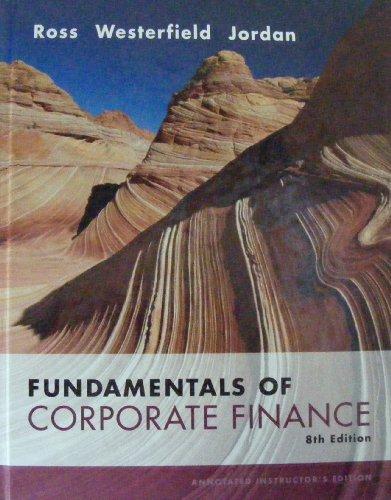 Fundamentals of Corporate Finance 8th 2008 edition cover